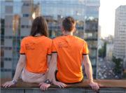 НА ШАГ ВПЕРЕДИ оранжевая футболка