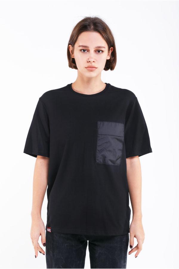 черная футболка оверсайз
