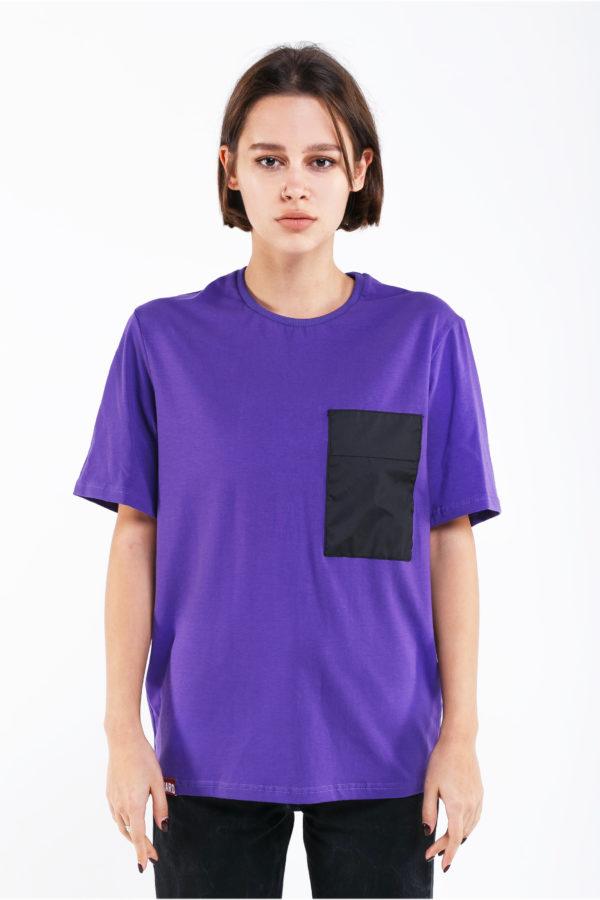 футболка с карманом оверсайз