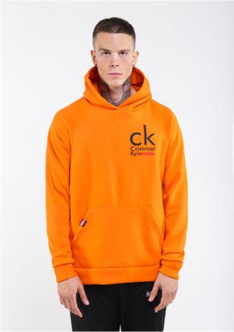 оранжевое худи Criminal kyiv