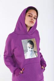 женское худи фиолет