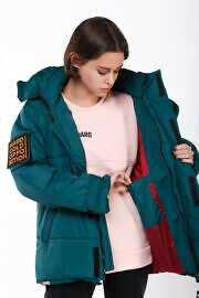 зеленая куртка на зиму