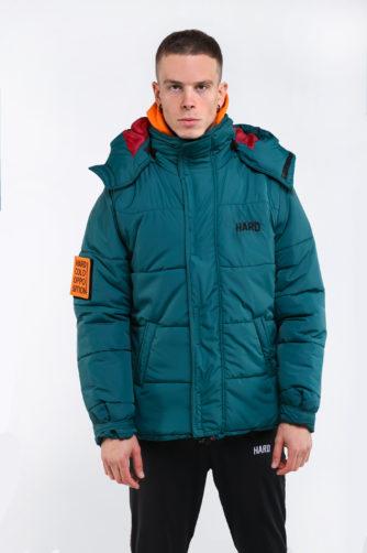 зимняя куртка зелёная