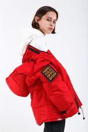куртка красная HARD