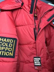 красная куртка HARD
