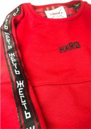 свитшот HARD красный с лампасами