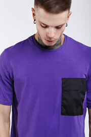 футболка с карманом фиолет