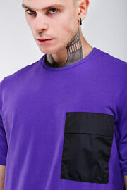 фиолетовая футболка HARD