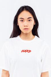 белая футболка hard kyiv