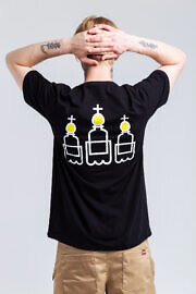 чорная футболка HARD PRIHOD