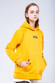 купить худи желтого цвера оверсайз