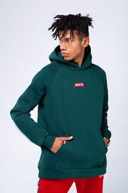 свободное худи зеленого цвета