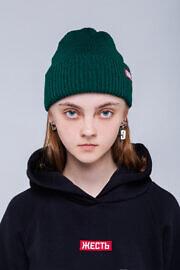 зеленая шапка HARD