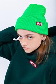 зимняя яркая шапка HARD
