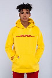 желтое худи ДИЧЬ DHL