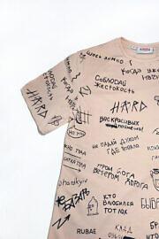 пудровая футболка kyivwalls