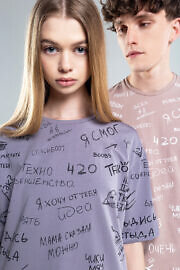 серая футболка HARD Kyivwalls unisex