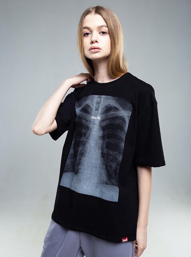 футболка HARD рентген жесть